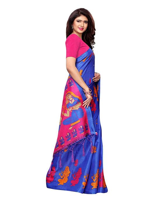 Blue, Pink Color Art Silk Saree only in Bigswipe