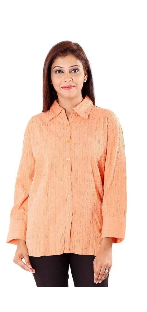 Cotton Solid Full Sleeve Shirt only in Bigswipe