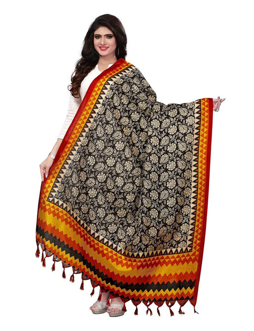 Balck, Mustard, Multi Color Bhagalpuri Dupatta only in Bigswipe