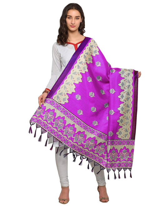 Pink, Cream Color Art Silk Dupatta only in Bigswipe