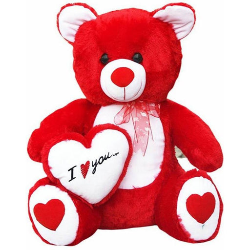 I love U Teddy With Heart - 60Cm - Red only in Bigswipe