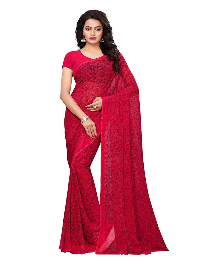 Pink, Multi Color Georgette Saree only in Bigswipe