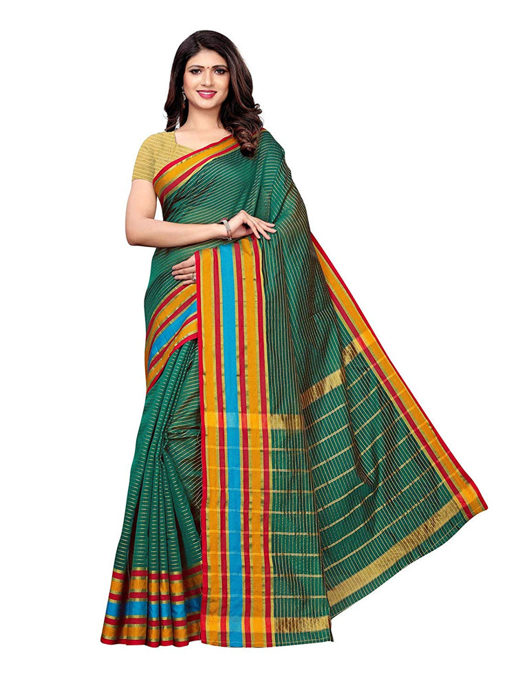 Green Color Poly Silk Saree only in Bigswipe
