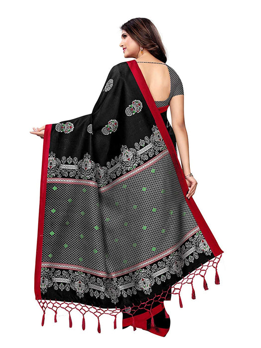 Black, Multi Color Poly Silk Saree only in Bigswipe