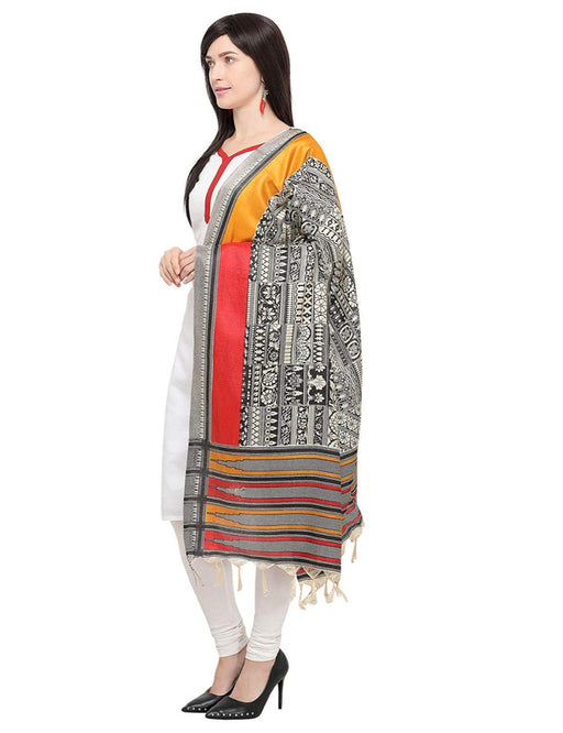 Beige, Black, Multi Color Bhagalpui Silk Dupatta only in Bigswipe