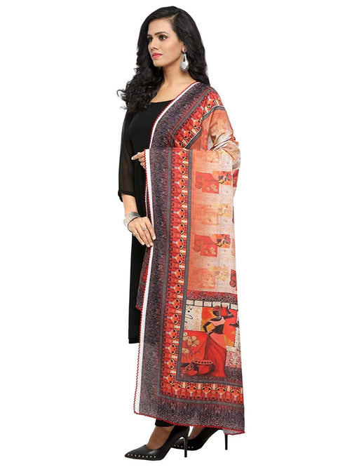 Multi Color Muslin Dupatta only in Bigswipe