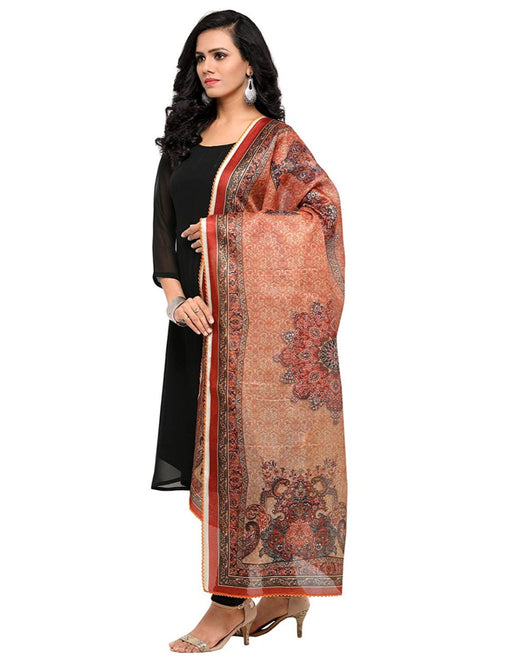 Beige, Multi Color Mock Leno Dupatta only in Bigswipe