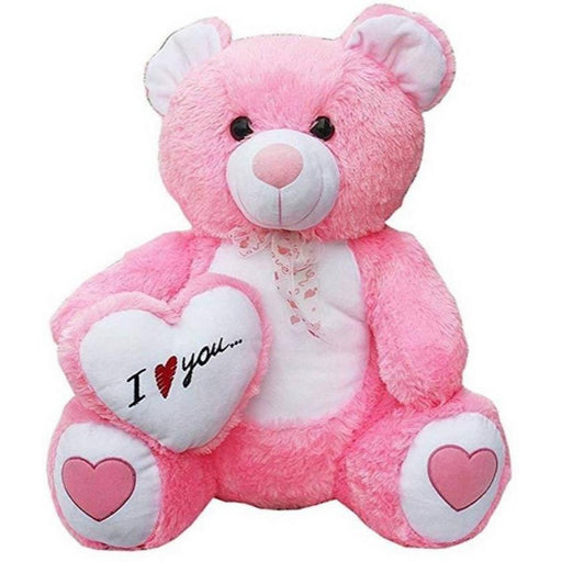I love U Teddy With Heart - 60Cm - Pink only in Bigswipe