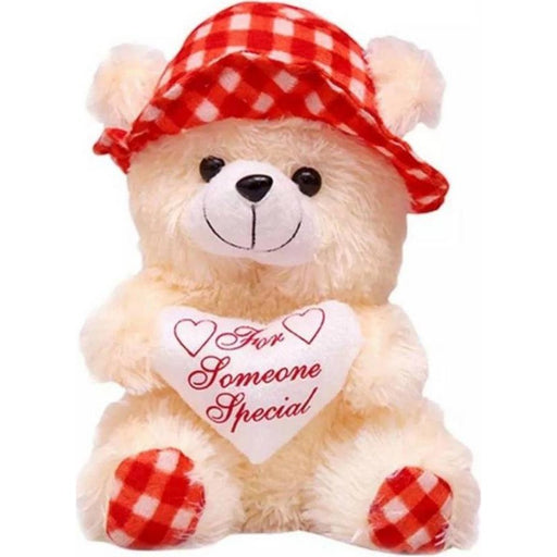 30Cm Cap Teddy With Small Heart - Red only in Bigswipe
