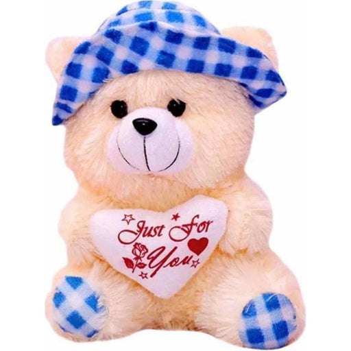 30Cm Cap Teddy With Small Heart - Blue only in Bigswipe