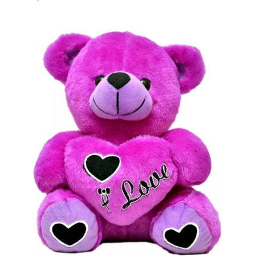 45Cm Heart Teddy Bear With I love U Msg-Purple only in Bigswipe