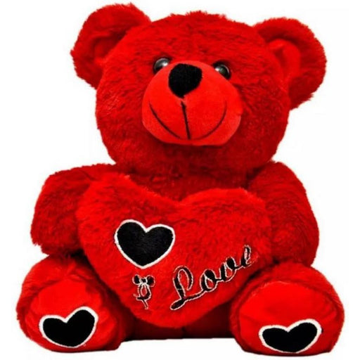 45Cm Heart Teddy Bear With I love U Msg-Red only in Bigswipe