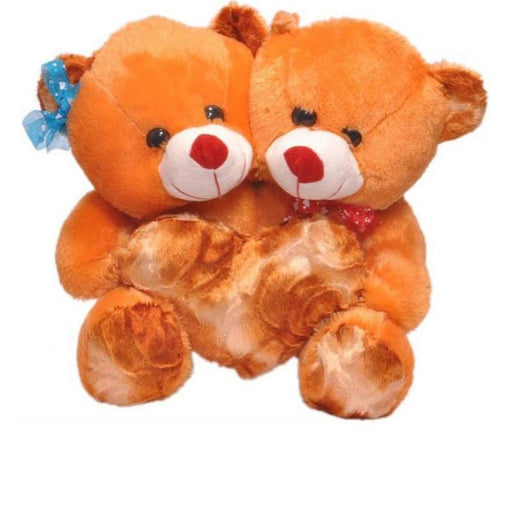 CoupleTeddy With Heart 30CM - Brown only in Bigswipe