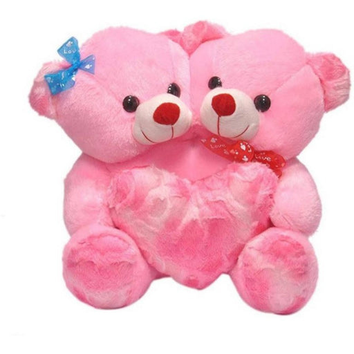 CoupleTeddy With Heart 30CM - Pink only in Bigswipe