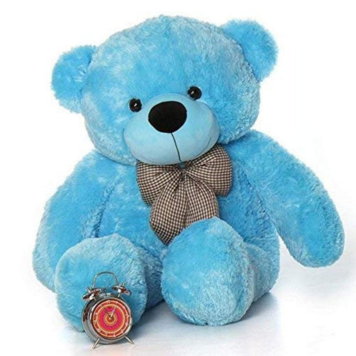 80Cm Blue Teddy With Tie - 3ft only in Bigswipe