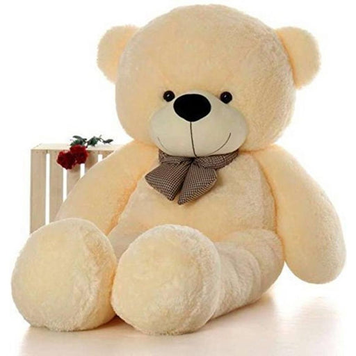 80Cm Cream Teddy With Tie - 3ft only in Bigswipe