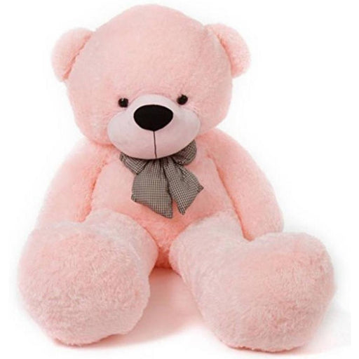 80Cm Pink Teddy With Tie - 3ft only in Bigswipe