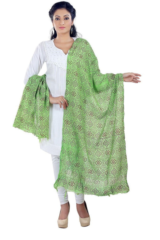 Poly Cotton Printed Solid Dupatta only in Bigswipe