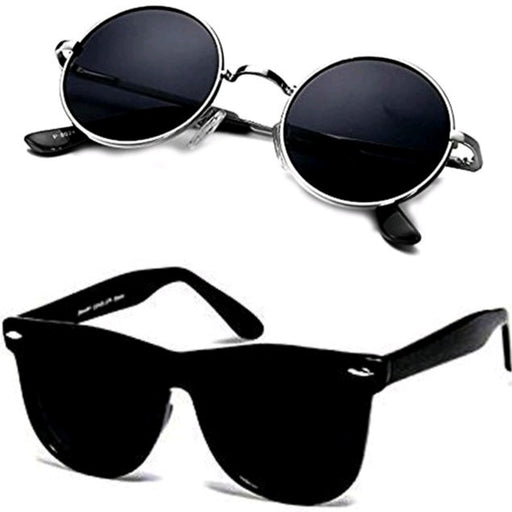 Unisex Uv protected Combo Sunglasses (Pack of 2)
