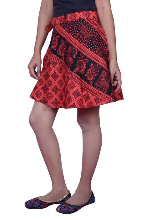 Cotton Printed Wrap Around Short Skirt only in Bigswipe