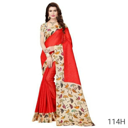 Party wear khadi silk Saree only in Bigswipe