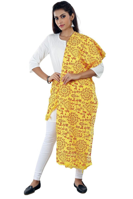 Cotton Printed Solid Dupatta only in Bigswipe
