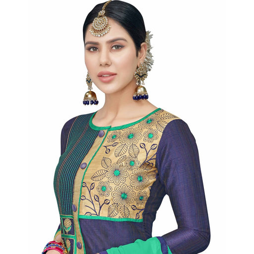 Cotton Silk Fabric Purple Color Dress Material only in Bigswipe