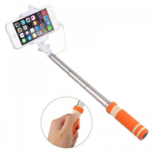 Extendable Mini Selfi Stick_Orange only in Bigswipe