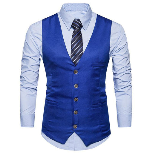 Blue Color Men's Party Wear waistcoat Ethnic Jacket only in Bigswipe