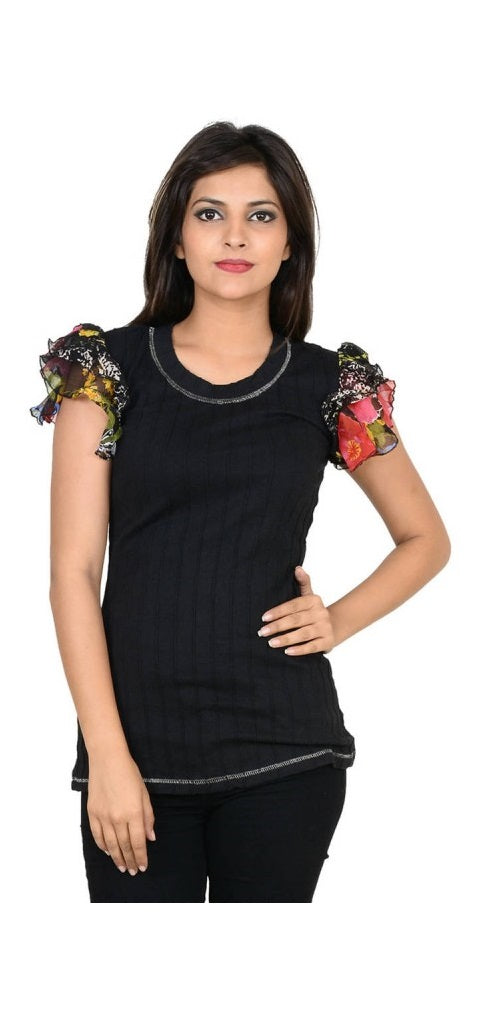 Cotton Borders Printed Roll-Up Sleeve Top only in Bigswipe