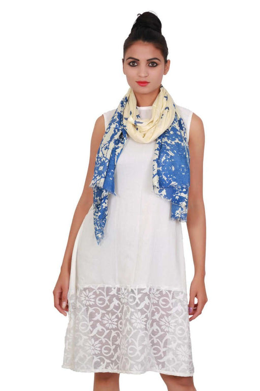 Viscose Printed Off White Dupatta