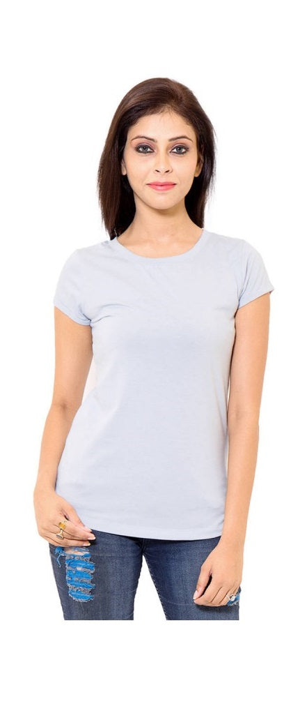 Blue Cotton Western Solid Short Sleeve Top only in Bigswipe