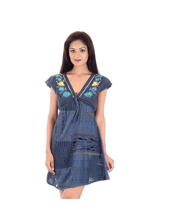 Polycotton V Neck Medium Top only in Bigswipe