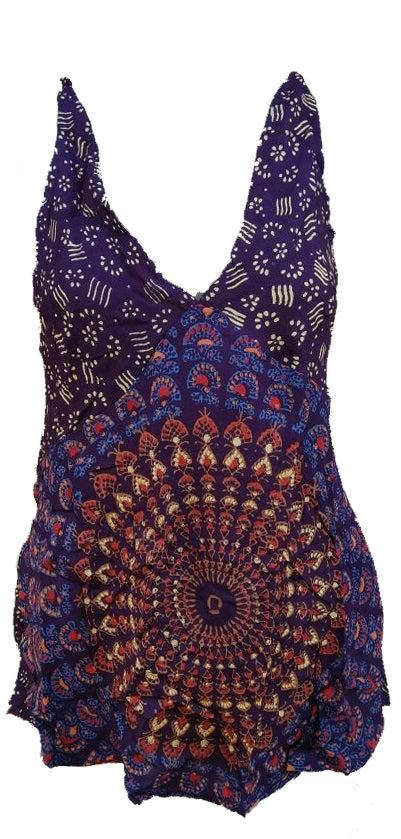 Beach Wear Sports Sleeveless Floral Print Top only in Bigswipe