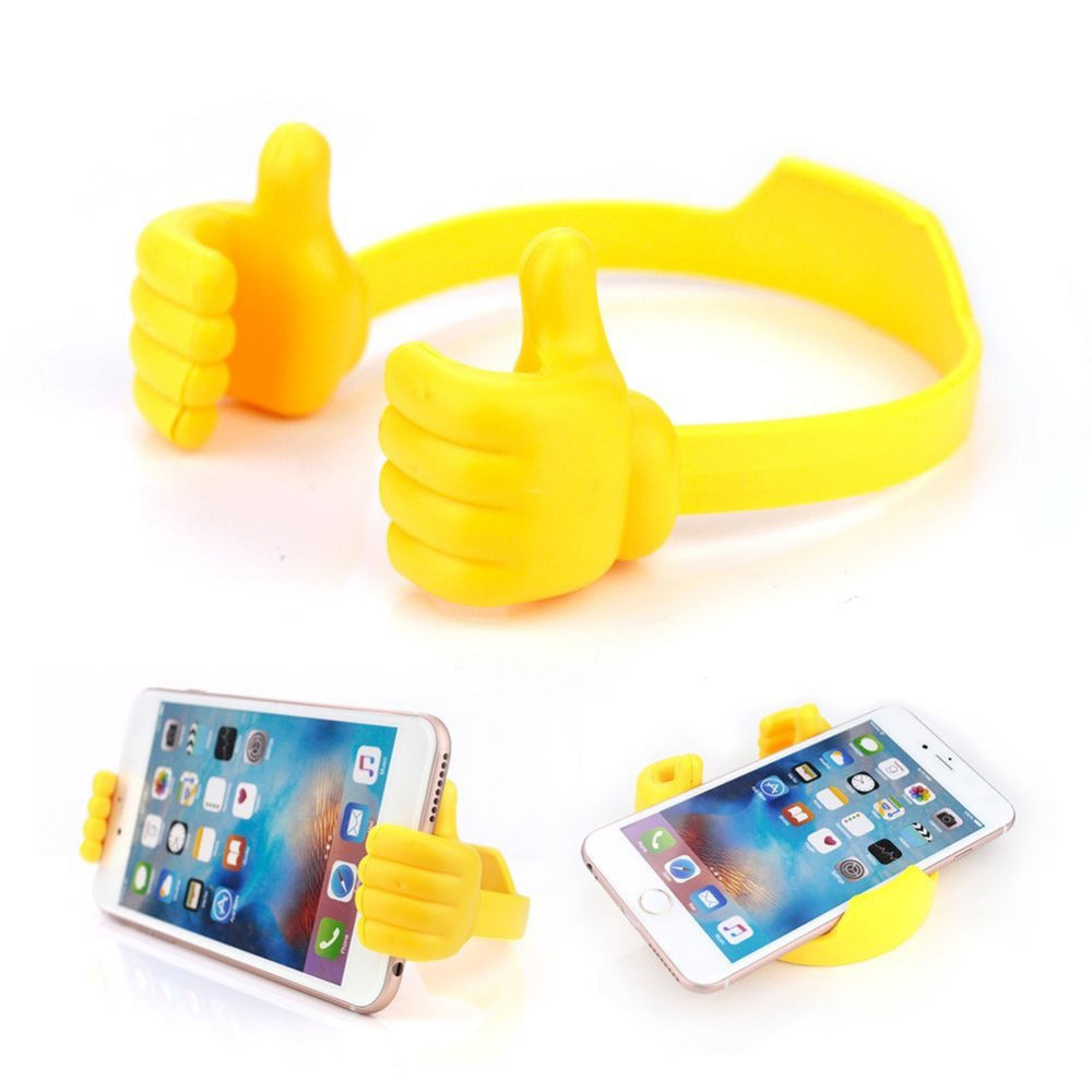 Flexible Multi-angle Hand Model Mobile Stand_Yellow only in Bigswipe