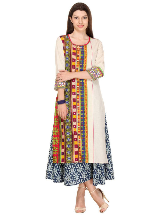 Multi Color Printed Rayon Kurti only in Bigswipe