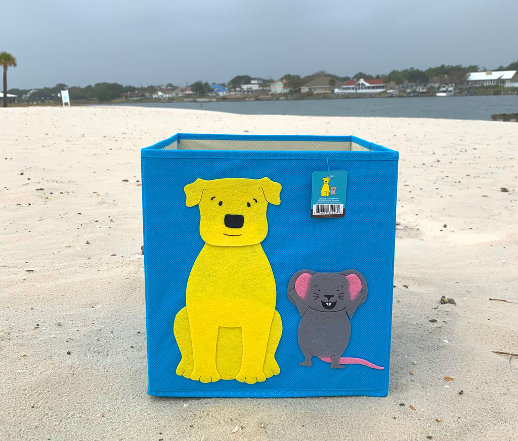 Dog and Mouse Toy Bin