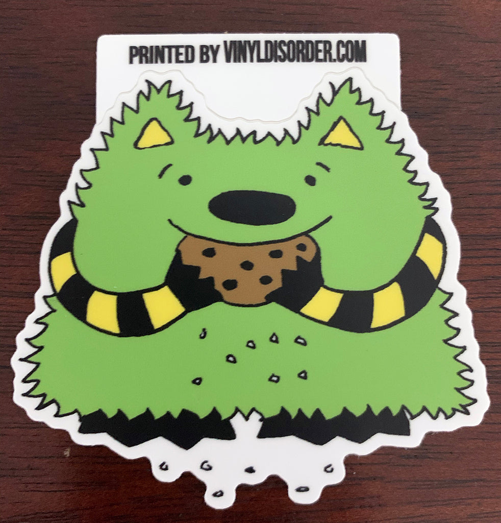 The Whatif Monster Noms Cookies Vinyl Sticker