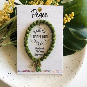 Kantha Connection Bracelet - Peace