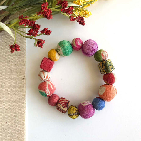 Kantha Primary Shapes Bracelet