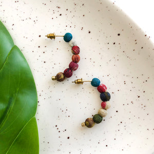 Kantha Petite Arc Earrings