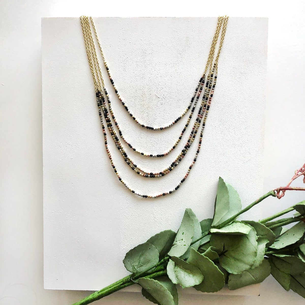 Cascading Metallics Necklace
