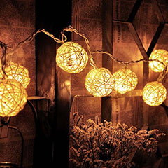 Rattan Balls Decorative Lights