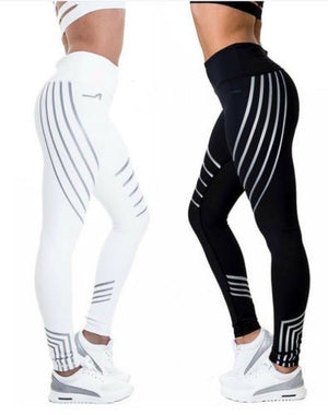 Women Yoga Fitness High Waist Leggings Running Gym Stretch Sports Pants Trousers