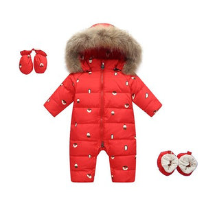 -30 Russian Winter Snowsuit 2018 Boy Baby Jacket 80% Duck Down Outdoor Infant Clothes Girls Climbing For Boys Kids Jumpsuit