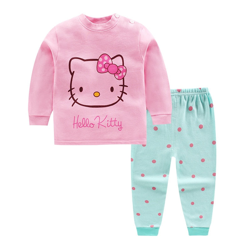 fashion Cartoon Top+ pant 2pcs baby girls clothing sets 2018 Autumn Winter newborn infant baby clothes set for 0-24month kids