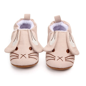 Fashion Baby Girls Baby Shoes Cute Newborn First Walker Shoes Infant Rabbit Ear Soft Sole Bottom Anti-slip Shoes