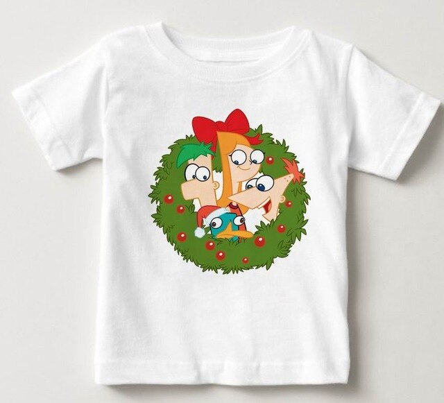 Phineas and Ferb Perry Flynn Fletcher Print Original Design Fashion Style Casual Cotton Children Summer Tshirt  MJ