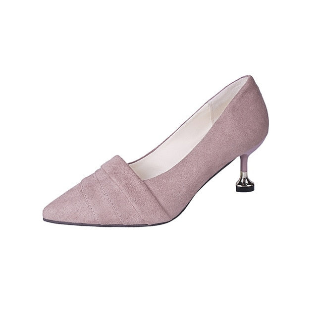 HEE GRAND Women Fashion ThinHeel Pumps Women Pointed Toe Shoes Spring Autumn Casual Slip On Ladies Outside Shoes XWD7179