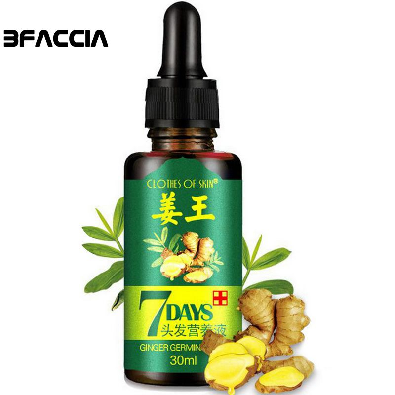 Bfaccia 7 Days Hair Growth Essential oil Hairs Care Oil Ginger Essence Hairdressing Anti-hair Loss Dry Damaged Hair Nutrition